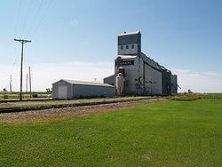 roome township Township. Grain elevator in