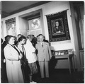 Eleanor Roosevelt and Nikita Khrushchev at the Franklin D. Roosevelt Library in Hyde Park - NARA - 195416.tif