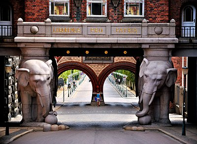 The Elephant Gate in Copenhagen - Carlsberg Group