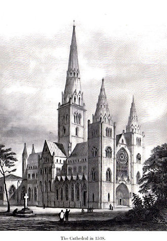 Alexander Stewart, Earl of Buchan - The reconstructed cathedral after the burning