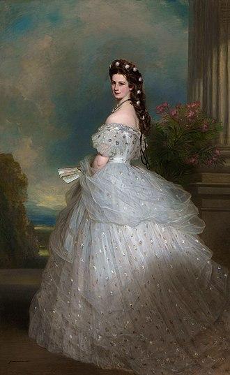House of Worth - Image: Elisabeth of Austria, by Franz Xaver Winterhalter