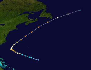 Hurricane Ella (1978) - Image: Ella 1978 track