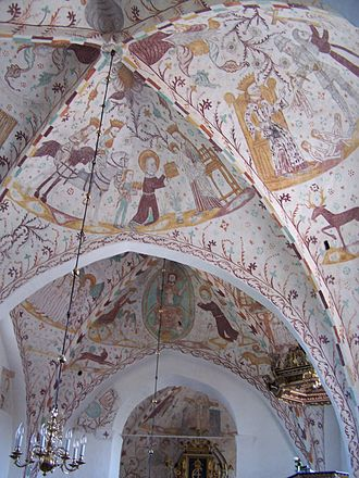 Danish art - Gothic frescos in Elmelunde Church