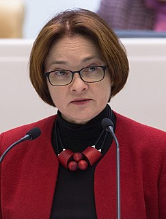 Elvira Nabiullina Russian economist and Governor of the Bank of Russia