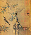 Emperor Huizong of Song - Finch on a bamboo branch - detail.jpg
