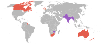 1934 British Empire Games - Countries that participated