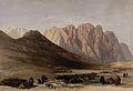 Encampment of the Aulad-Sa'id at Mount Sinai. Coloured litho Wellcome V0049443.jpg