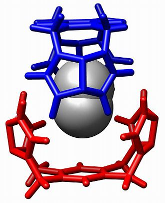Host–guest chemistry - A guest N<sub>2</sub> is bound within a host hydrogen-bonded capsule reported by Julius Rebek et al. in Chem. Eur. J. 1996, 2, 989-991.