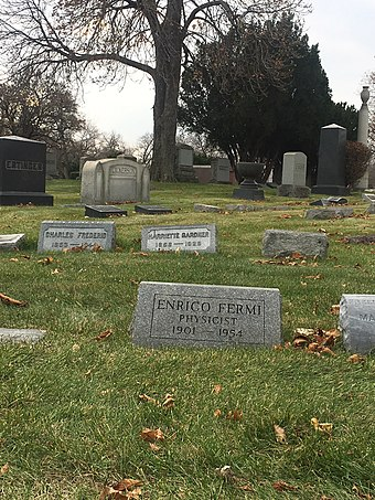 Fermi's grave in Chicago Enrico fermi tomb2.jpg