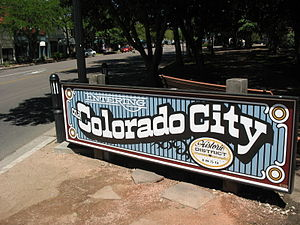 sign for Colorado City