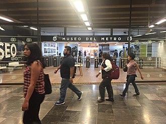 Metro Mixcoac - Image: Entrada al Museo del Metro