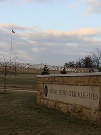 Entrance to the National Cemetery of the Alleghenies.JPG