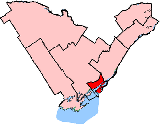 Kingston and the Islands (provincial electoral district) - Kingston and the Islands shown within the Eastern Ontario region
