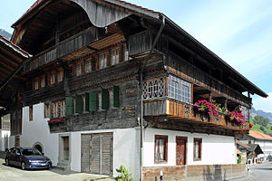 Erlenbach im Simmental - Platz House in Erlenbach, built with money from trading cattle across the Alps.