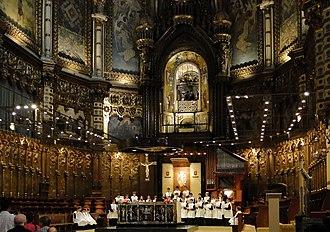 Santa Maria de Montserrat Abbey - L'Escolania inside the basilica