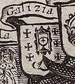 Escudo da Galiza na Carte générale d'Espagne et de tous les Royaumes... de Nicolas Sanson (1641).jpg