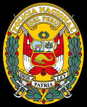 Coat of arms of Peru - Image: Escudo de la Policía Nacional del Perú