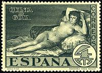Naked Maja Postage Stamps Wikipedia