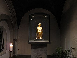 Golden Madonna of Essen - The Golden Madonna is kept in a side-chapel of Essen Cathedral