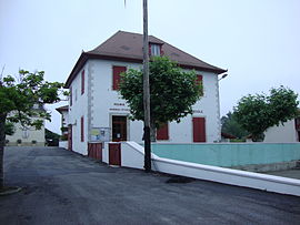 The town hall and school of Etcharry