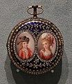 Europa, orologio in oro, porcellana, diamanti e smalti, 1860-80 ca.jpg