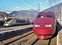 Eurostar et Thalys, Albertville (2007).JPG