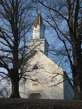 National Register of Historic Places listings in Dubois County, Indiana - Image: Evangelische Lutherische Emanuels Kirche, front from slight north