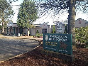 Evergreen High School (King County, Washington) - Image: Evergreen HS 01