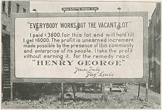 Georgism - Image: Everybody works but the vacant lot (cropped)