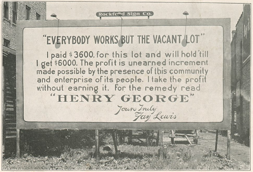 Everybody works but the vacant lot (cropped)