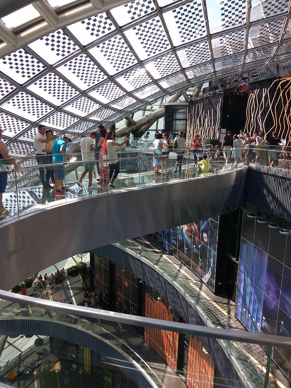 Expo 2017 %22Nur Alem%22 Pavilion Glass Pathway 2