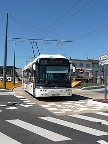 photo d'un trolleybus à Limoges
