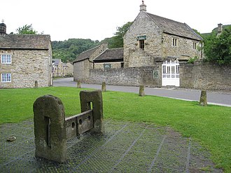 Eyam - The village green and Church Street