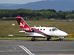 F-HBIR Cessna Citation Mustang 510 Wijet (35120624033).jpg