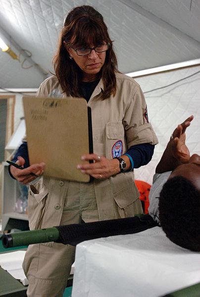 Nurse Monica Woodlee on FEMA's Disaster Medical Assistance Team (2005)