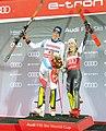 FIS Alpine Skiing World Cup in Stockholm 2019 Ramon Zenhauesern and Mikaela Shiffrin 2.jpg