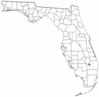 Location of Belle Glade Camp, Florida
