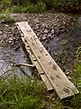 FLT M18 3.2 mi - Puncheon bridge, 2x12x10' boards atop 1x8x18 cross pieces atop 2 1x8 flat stringers atop 1x8x18 pieces atop 2 1x8 flat stringers - panoramio.jpg