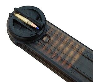 FN P90 - The P90 magazine feed lips