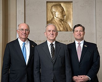 Federal Reserve Bank of Richmond - Current and Former FRB Richmond Presidents (Left to Right: J. Alfred Broaddus Jr.; Robert P. Black; Jeffrey M. Lacker)