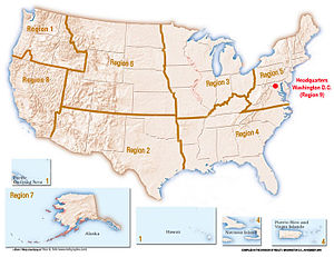 English: Administrative regions of the U.S. Fi...