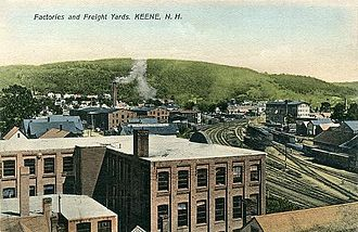 Keene, New Hampshire - Freight yards in 1907