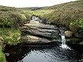 Far Black Clough a small waterfall. - geograph.org.uk - 457554.jpg