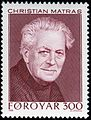 Faroe stamp 163 christian matras.jpg
