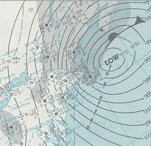 February 1969 nor'easter - A surface weather analysis of the nor'easter