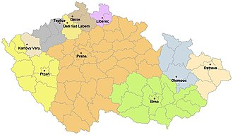 History of the Jews in the Czech Republic - Jewish communities associated under the Federation of Jewish communities and their administration within the Czech Republic, 2008