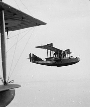 Felixstowe F.2 - Felixstowe F.2A in flight.