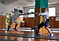 Fencing in Greece. The fencer Alexandros Kanellis (right) at Athenaikos Fencing Club.jpg