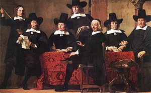 History of insurance - Merchants have sought methods to minimize risks since early times. Pictured, Governors of the Wine Merchant's Guild by Ferdinand Bol, c. 1680.
