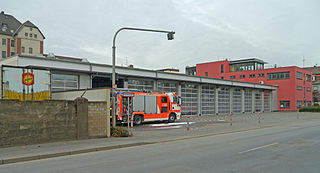 Fire station structure or other area set aside for storage of firefighting apparatus